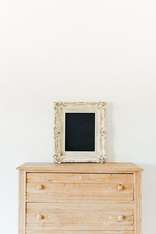 Antique White Chalkboard