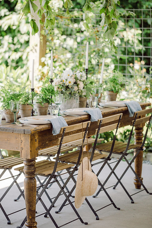 Metal & Wood Bistro Chairs