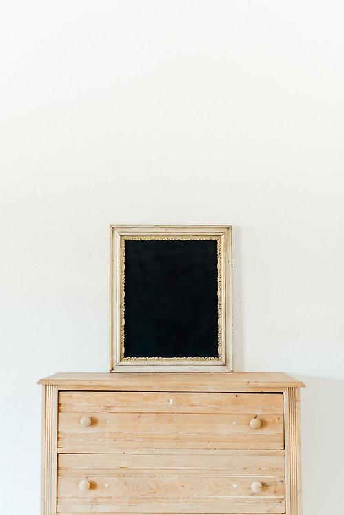 Antique Grey & Gold Chalkboard