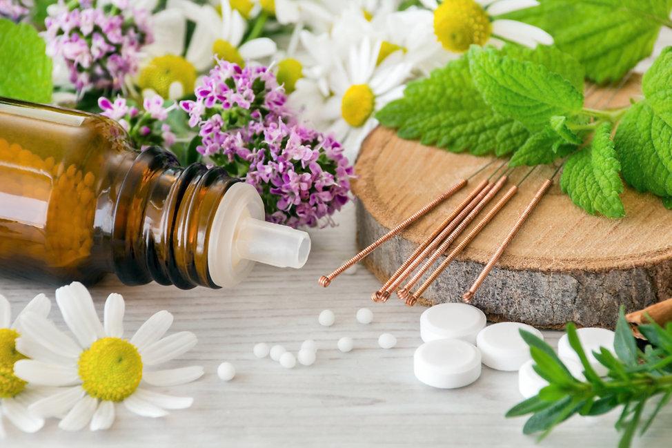 Akupunkturnadeln und Globolis