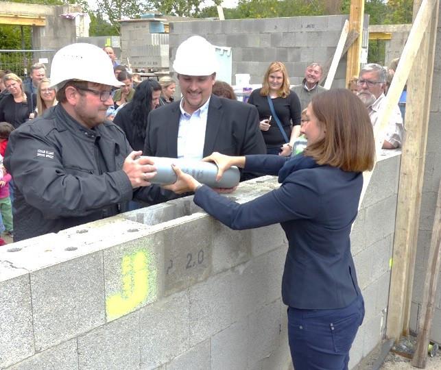 Grundsteinlegung für den Bau des Kindergartens der Elterninitiative Kindergarten Pohlhausen e.V..