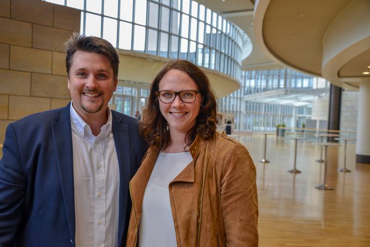 Mit Katharina Gebauer MdL im Düsseldorfer Landtag.