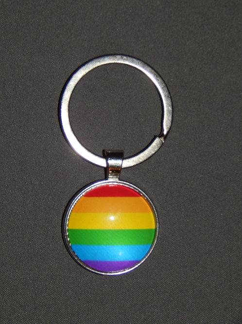 LGBT+Flag Keyring