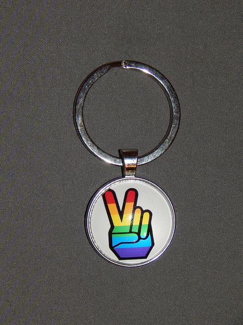 Peace Fingers Keyring