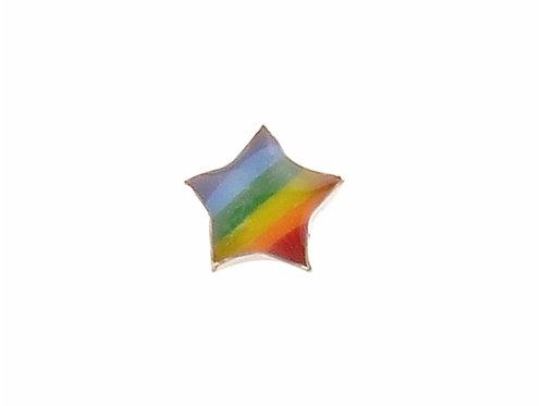 Rainbow Star Stud Earring