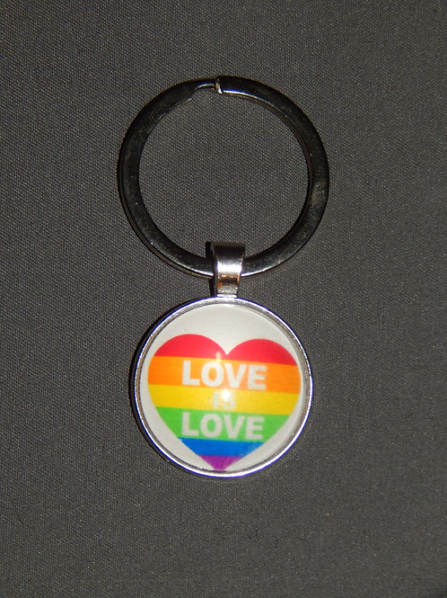 Love Is Love Heart Keyring