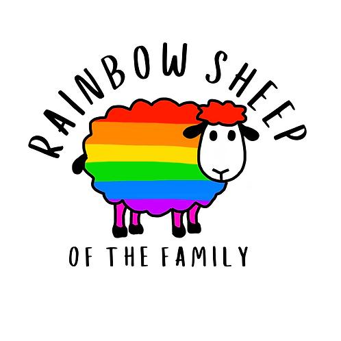 Rainbow Sheep 32mm Badge