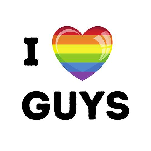 I Love Guys 32mm Badge