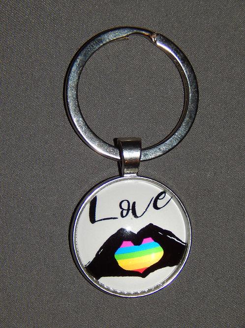 Black Love Keyring