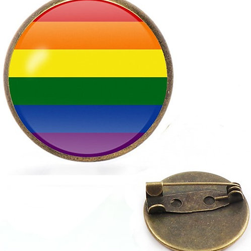 LGBT Flag Sideways Lapel Pin