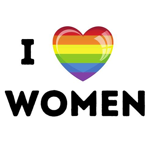 I Love Women 32mm Badge