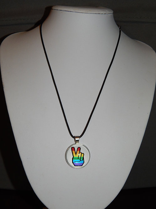 Peace Fingers Necklace