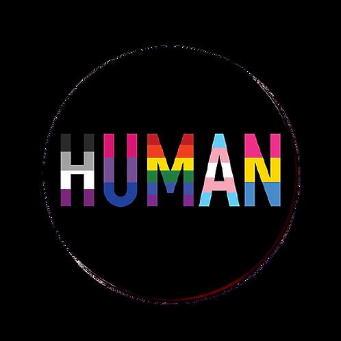 Human 32mm Badge