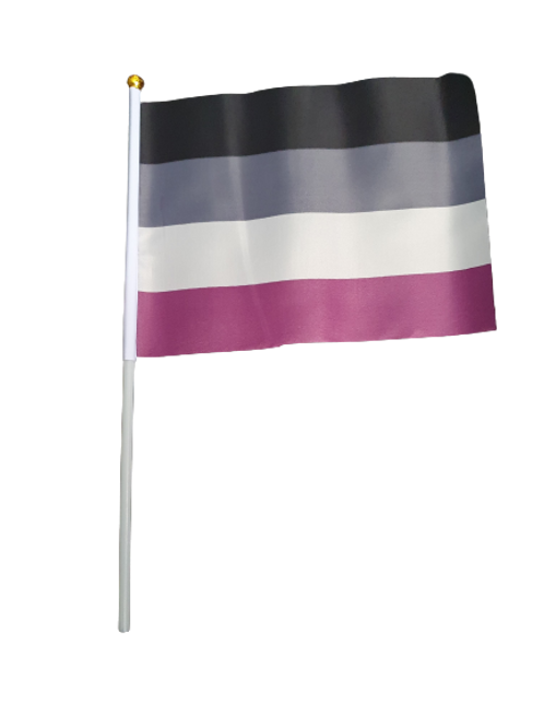 A-Sexual Handheld Flag