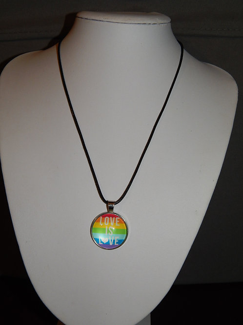 Love Is Love Flag Necklace