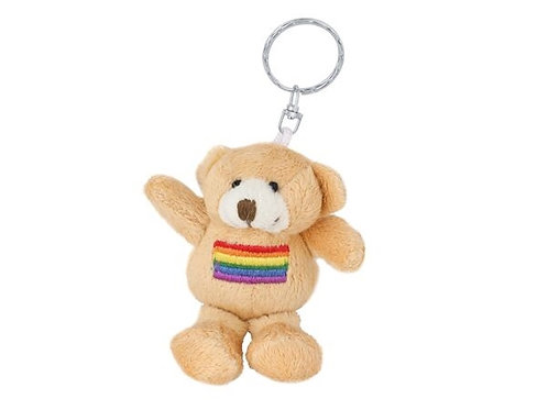 Rainbow Bear Keyring