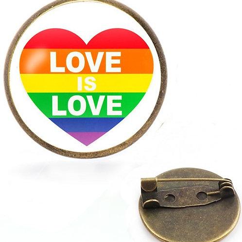 Love Is Love (Heart) Pin