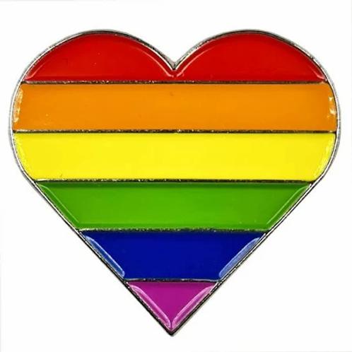 LGBT Heart Lapel Pin
