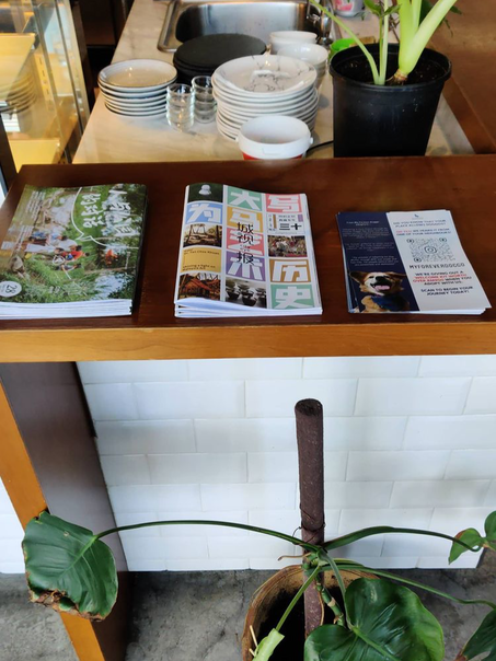 Our flyers at Macallum Cafe, Penang!