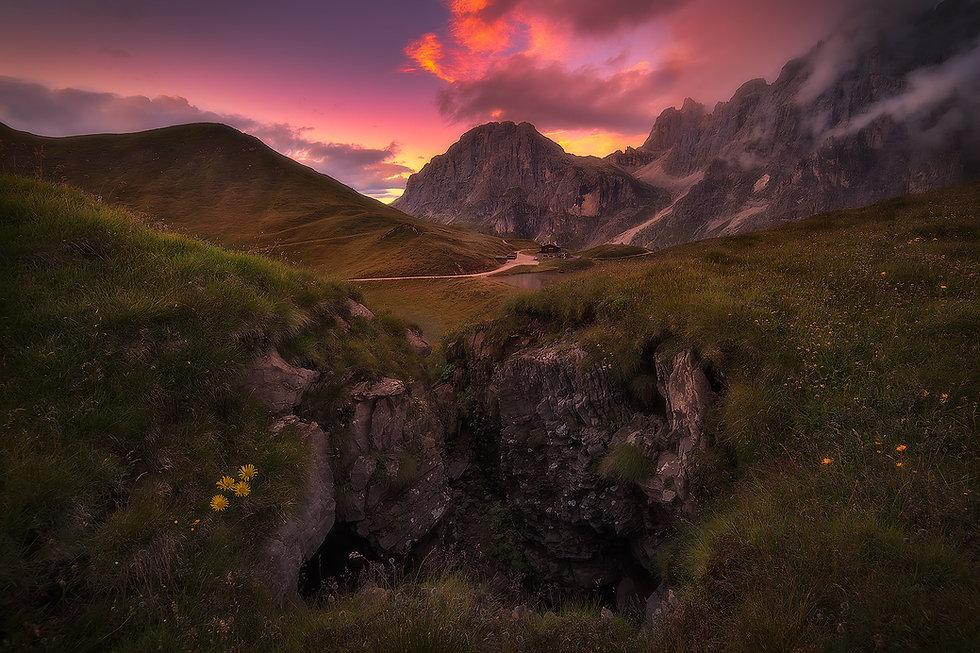 massimo coizzi fotografia - workshop fotografia paesaggio - passo rolle - dolomiti trentin