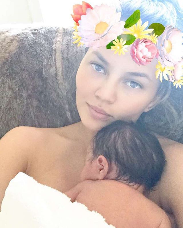 Chrissy Teigen dares to be a human AND parent!