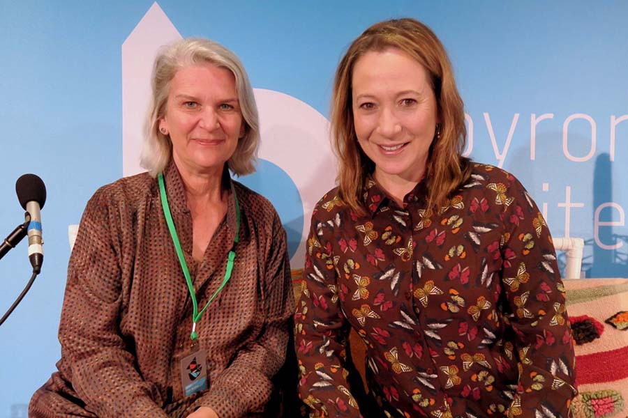 Susan Wyndham and Jane Hutcheon at the Byron Writers Festival