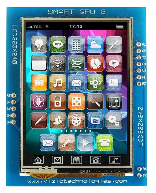 """SmartGPU 2 - 2.4"""" LCD320X240 Touch"""