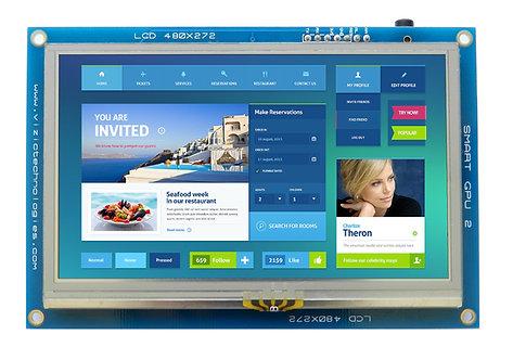 """SmartGPU 2 - 4.3"""" LCD480X272 Touch"""
