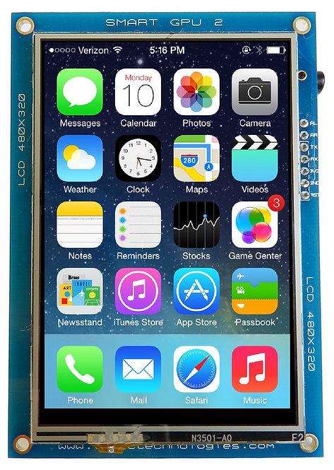 """SmartGPU 2 - 3.5"""" LCD480X320 Touch"""