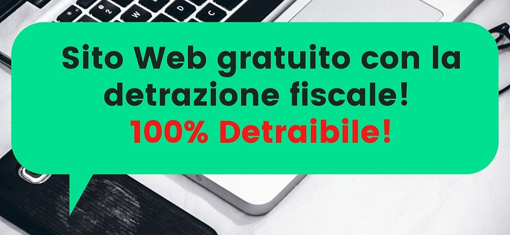 Sito web 100% detraibile gratis - ecommerce gratis detraibile 50%