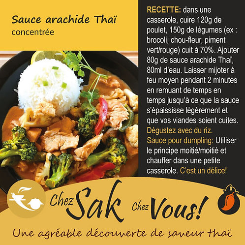 Sauce arachide Thaï concentrée à commander en ligne