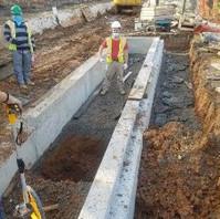 Contractor building LID10-3 Bioretention Planter