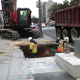 Excavated double basin at 16th & Columbia Rd.