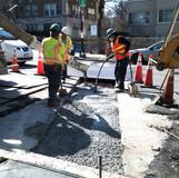 Placed concrete PCC Base at 16th & Oak St. NW.