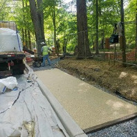 Contractor excavated to install Porous Sidewalk Flexible Pavement LID10-1.