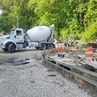 Contractor excavated, formed and placed concrete for PCC Curb and Gutter on Bingham Drive.