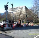 Set up MOT at 16th St. & Harvard St. NW.