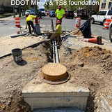 Conduit between DDOT MH-A & TS8 foundation.