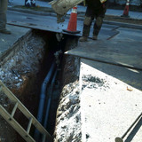 Placed concrete PVC encasted Elec conduit at 16th NW & Newton NW.