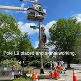 Pole L9 placed and signal working.