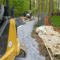 Contractor formed and placed Exposed Aggregate sidewalk concrete.