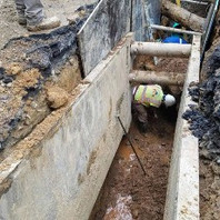 Contractor continued to install DC-Water PVC Sanitary Sewer pipe.