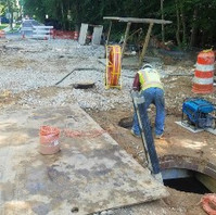 Contractor for DCPLUG work ran mandrel for duct bank inspection certification.