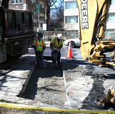 Compaction trench at 16th St. NW & Oak St.