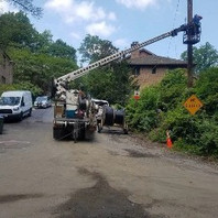Other communication Contractor (Verizon) relocating wires.