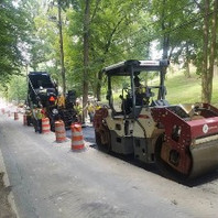 Contractor Paved 8-inch base course, compacted, and rolled on SB Oregon Avenue Phase 3b-2.