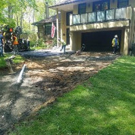 Contractor excavated to subgrade, placed GAB and paved for driveway #6300.