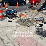 TS9 Foundation. (Columbia island)