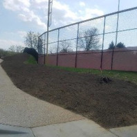 Contractor placed Topsoil and Seeding on Embankment for 2:1 lope.