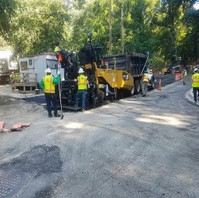 Contractor paved 2nd lift of 4-inch of HMA Base Course on Oregon Avenue Phase 3B-2.